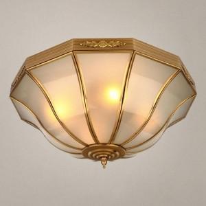 欧式吸顶灯全铜纯铜酒店庭院客厅卧室