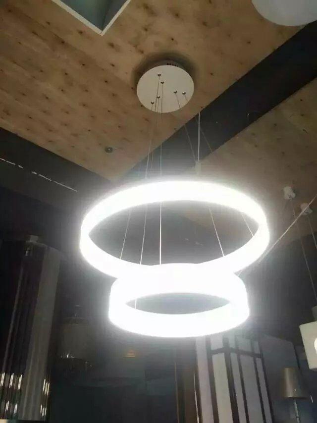 亚克力吊灯灯罩圆管圆环灯罩单环多环可选厂家直销-- 中山市翔鸿亚克力工艺制品有限公司