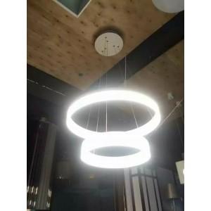 亚克力吊灯灯罩圆管圆环灯罩单环多环