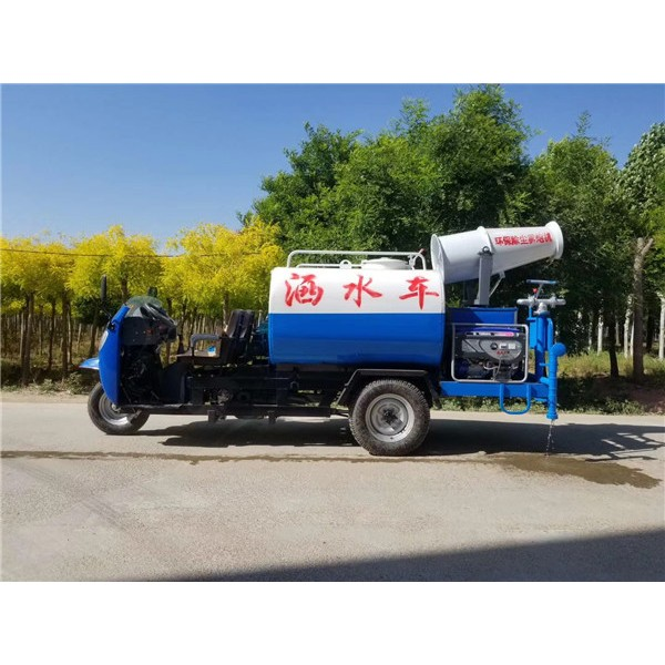 机动三轮洒水车-- 电动挂桶垃圾车生产厂家
