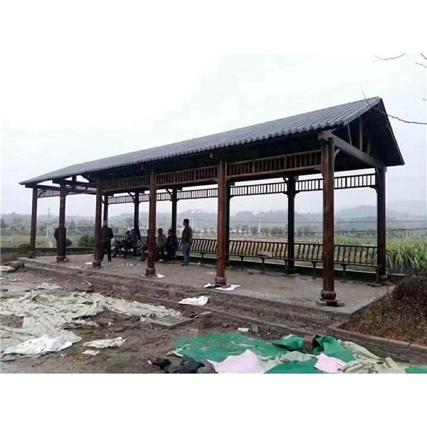 长廊系列-- 武汉防腐木厂家